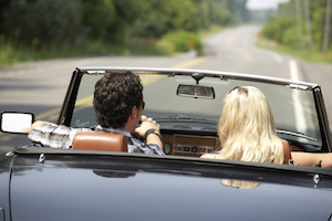 California couple in convertible