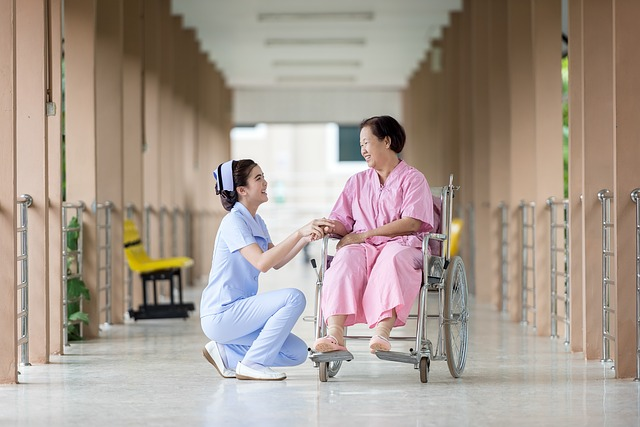 medical women in wheelchair